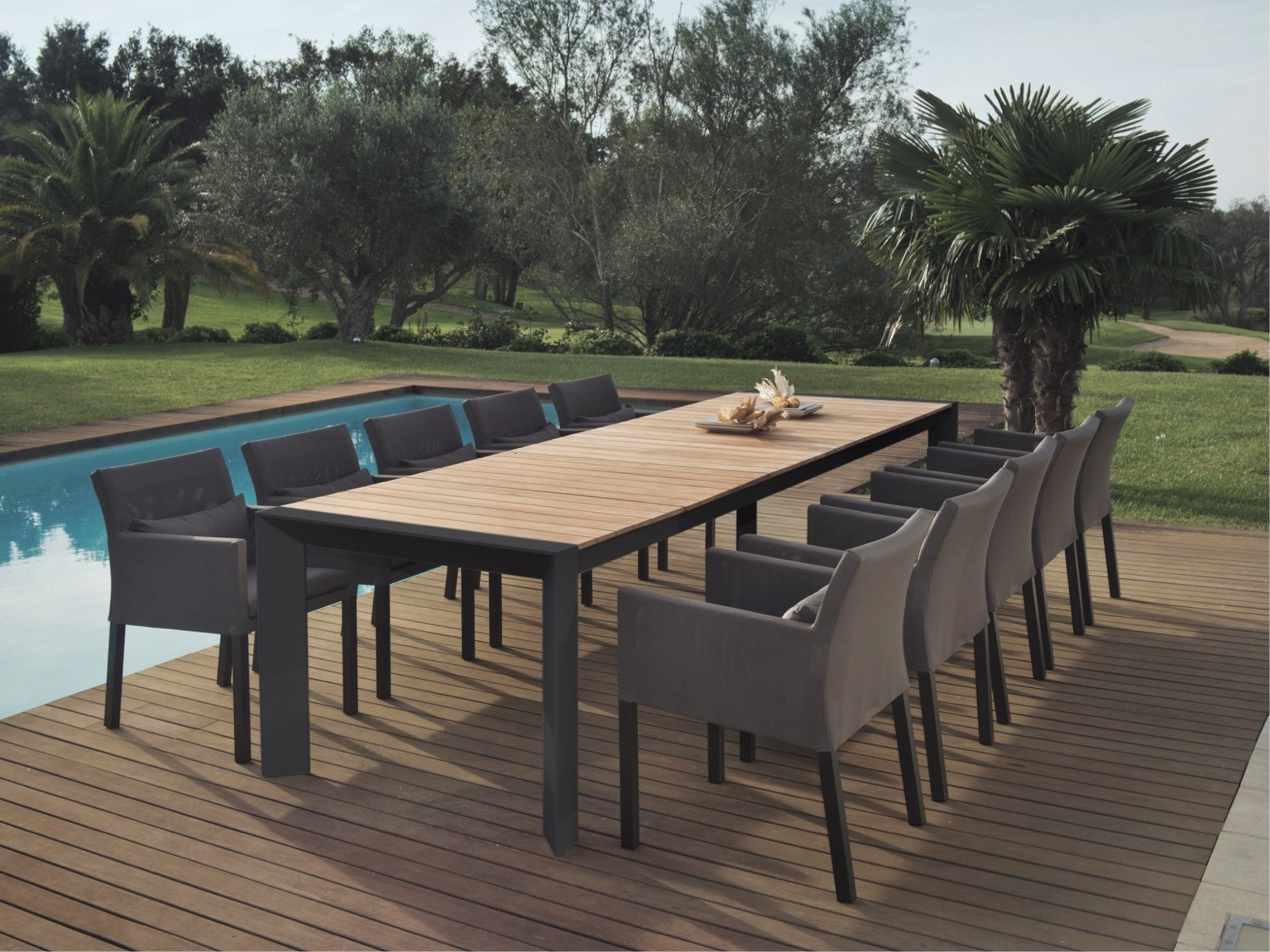 Outdoor Extendable Dining Tables Intended For Well Liked Alchemy Teak Dining Table – Couture Outdoor (View 7 of 25)