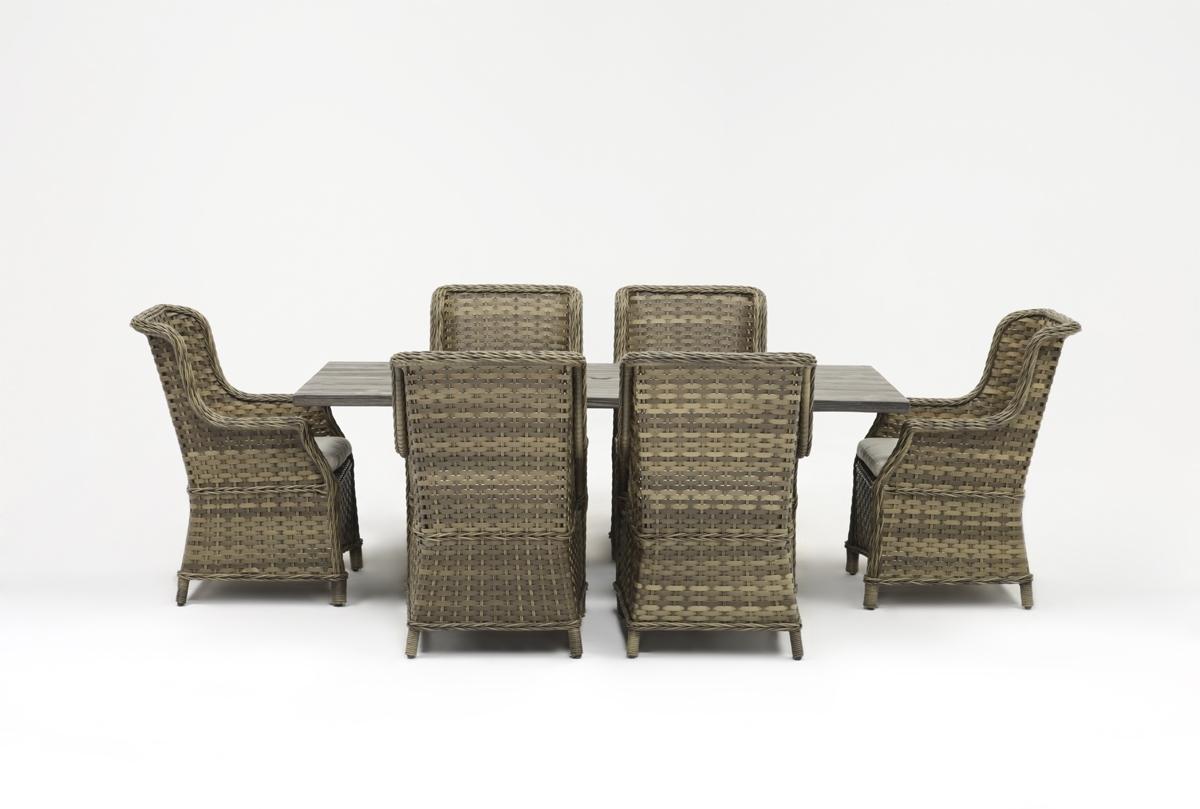 Outdoor Tortuga 7 Piece Dining Set W/aventura Side Chair (View 3 of 25)