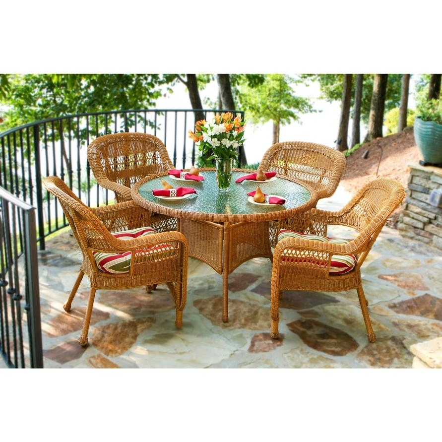 Outdoor Tortuga Dining Tables Pertaining To Most Up To Date Tortuga Portside Patio Furniture Tortuga Outdoor Portside 5 Piece (View 13 of 25)