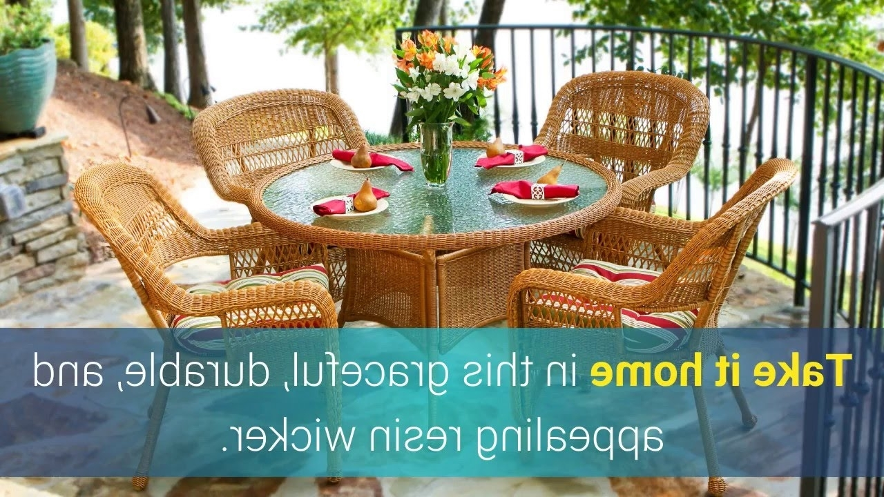 Outdoor Tortuga Dining Tables Throughout Favorite The Portside 5 Piece All Weather Wicker Dining Set Tortuga Outdoor (View 14 of 25)