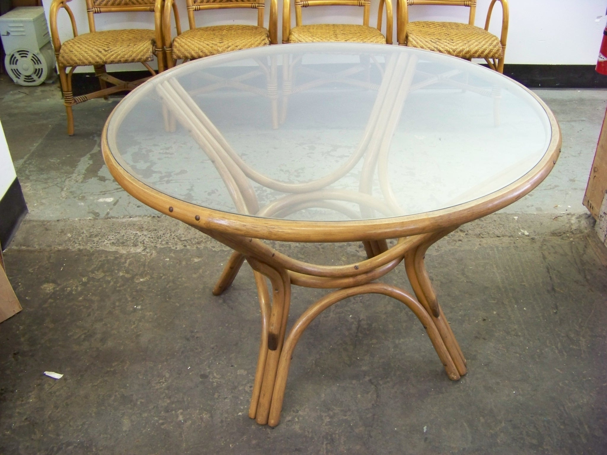 Outdoor Wicker Dining Table With Glass Top For 2018 Wicker And Glass Dining Tables (View 4 of 25)