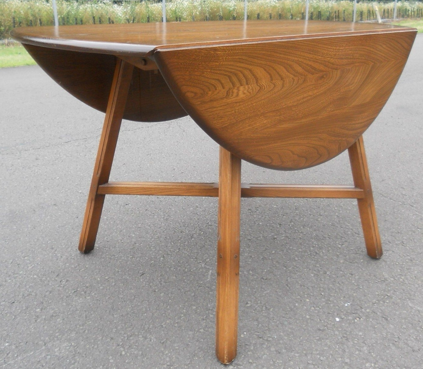 Oval Folding Dining Tables For Well Known Sold – Oval Dropleaf Elm Dining Tableercol (View 6 of 25)