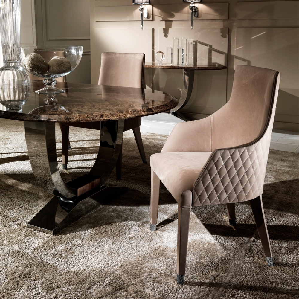 Oval High End Marble Italian Dining Table (View 2 of 25)