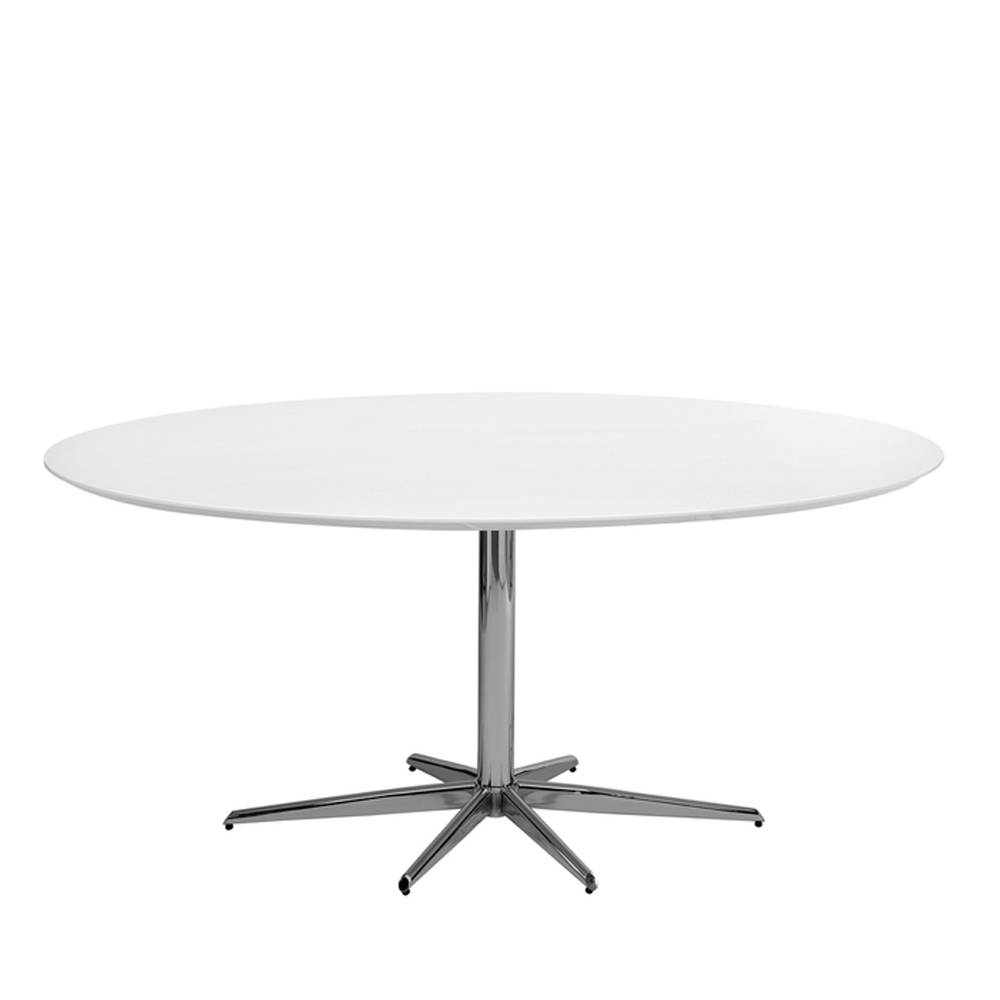 Oval White High Gloss Dining Tables In Most Up To Date Stellar Base Gloss Dining Table White Large – Dwell (View 14 of 25)