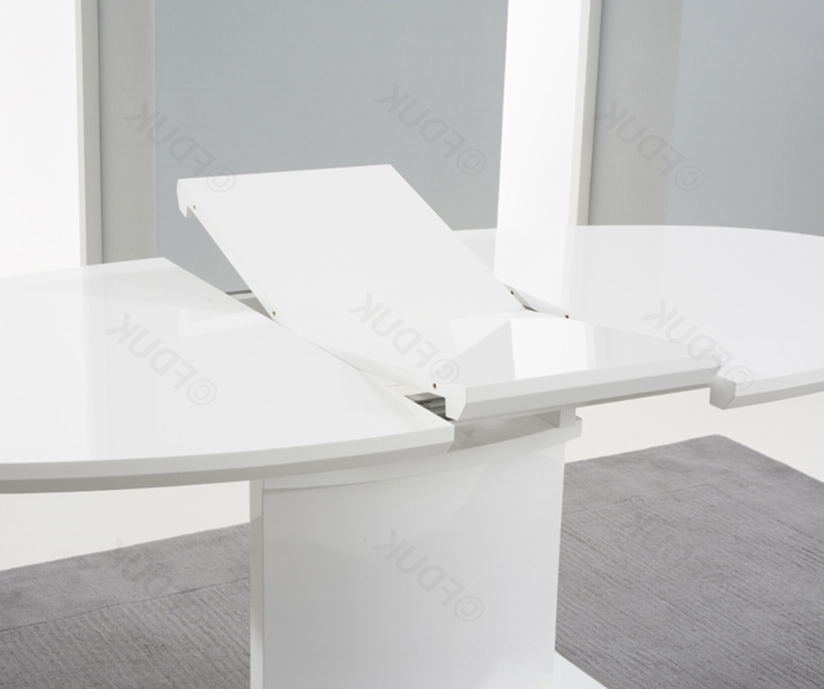 Oval White High Gloss Dining Tables Pertaining To Well Liked Mark Harris Seville White High Gloss Dining Set – 160Cm Oval With  (View 7 of 25)
