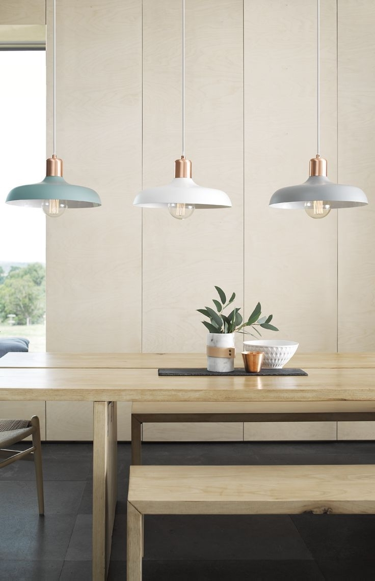Over Dining Tables Lighting Throughout Current Cool Croft 1 Light Pendant In Brushed Copper/ashhttp://www (View 3 of 25)