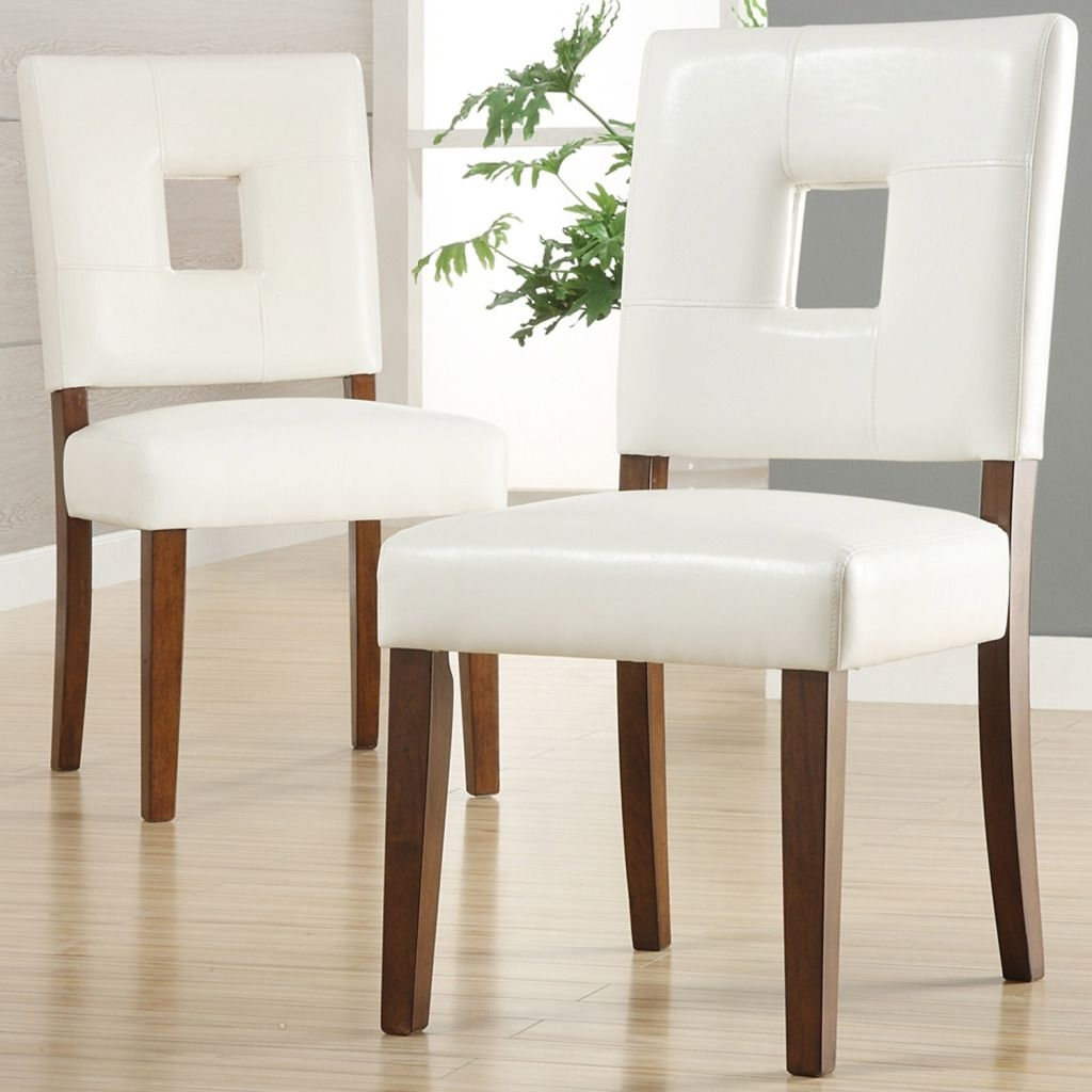 Oxford Creek Dining Chairs In White Faux Leather Set Of 2 Wooden With Most Recently Released White Leather Dining Room Chairs (View 10 of 25)