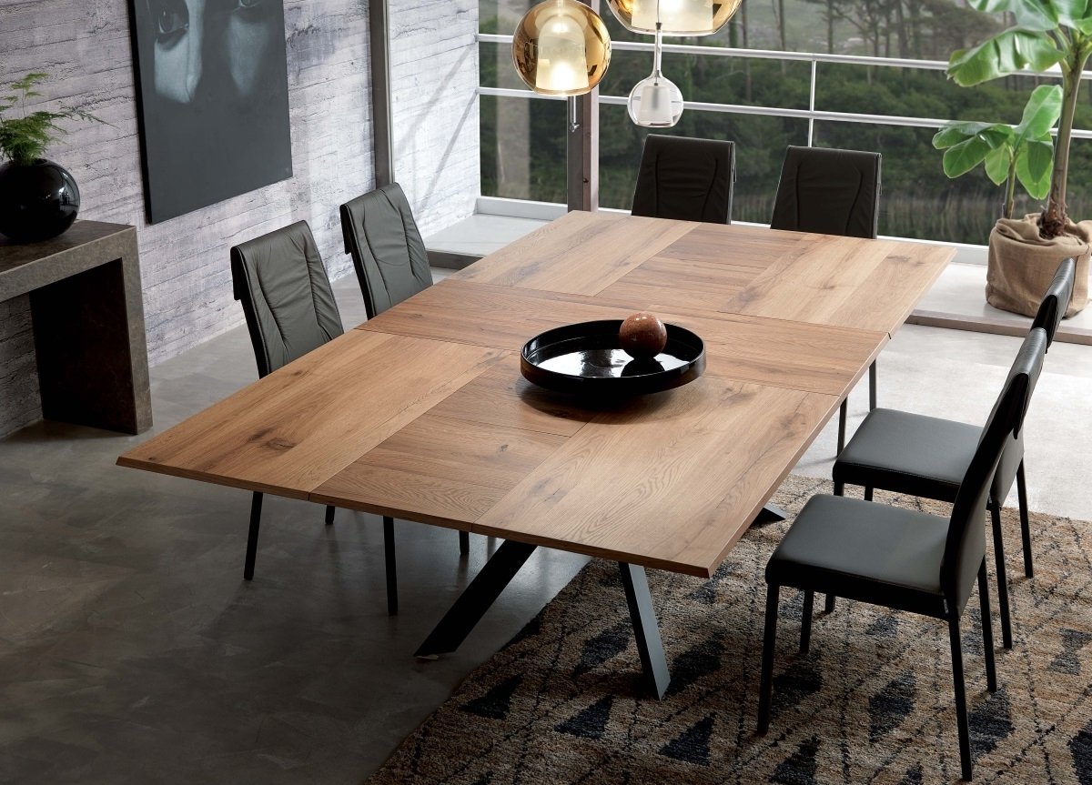 Ozzio 4X4 Extending Dining Table (View 7 of 25)