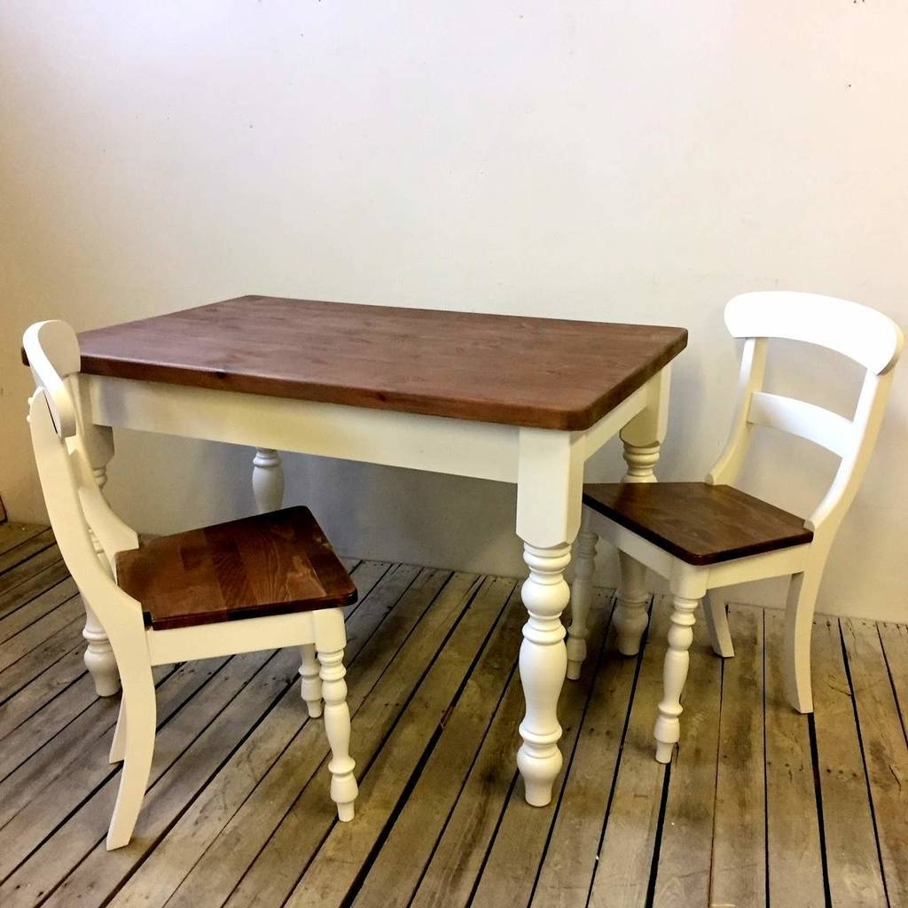 Painted Dining Tables With Best And Newest Old English Painted Dining Table And Chair Setthe Orchard (View 16 of 25)