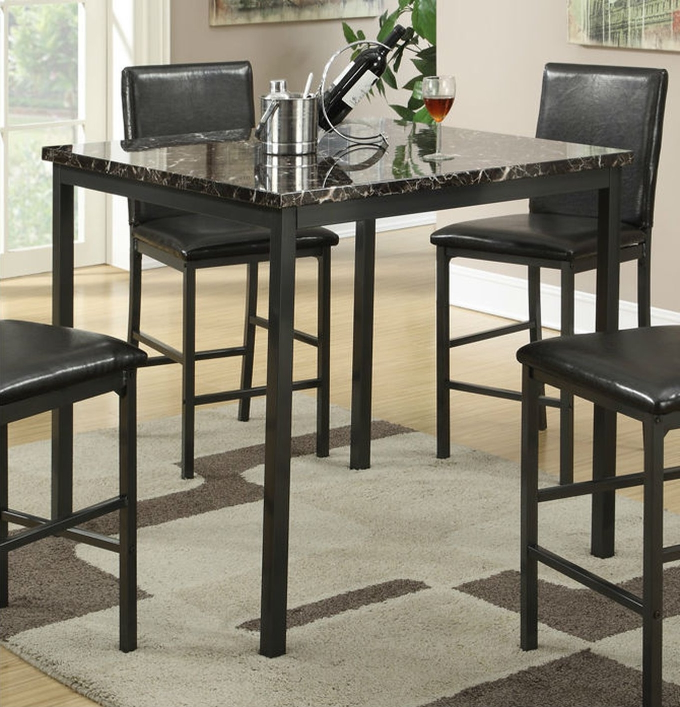 Palazzo Rectangle Dining Tables Regarding 2017 Black Metal Dining Table – Steal A Sofa Furniture Outlet Los Angeles Ca (View 14 of 25)