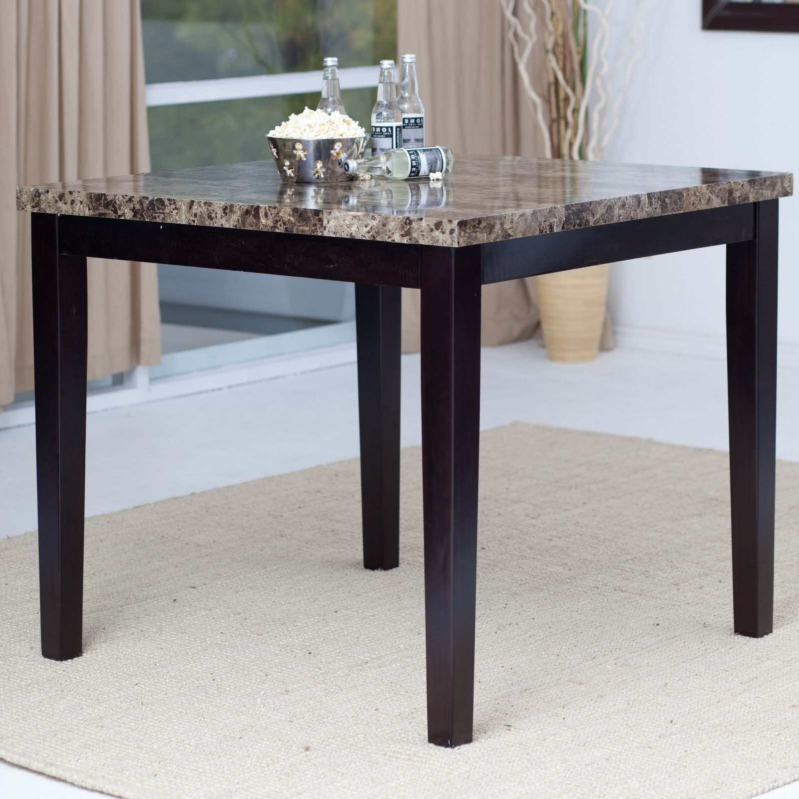 Palazzo Rectangle Dining Tables With Regard To Current Palazzo Counter Height Dining Table – Walmart (View 4 of 25)