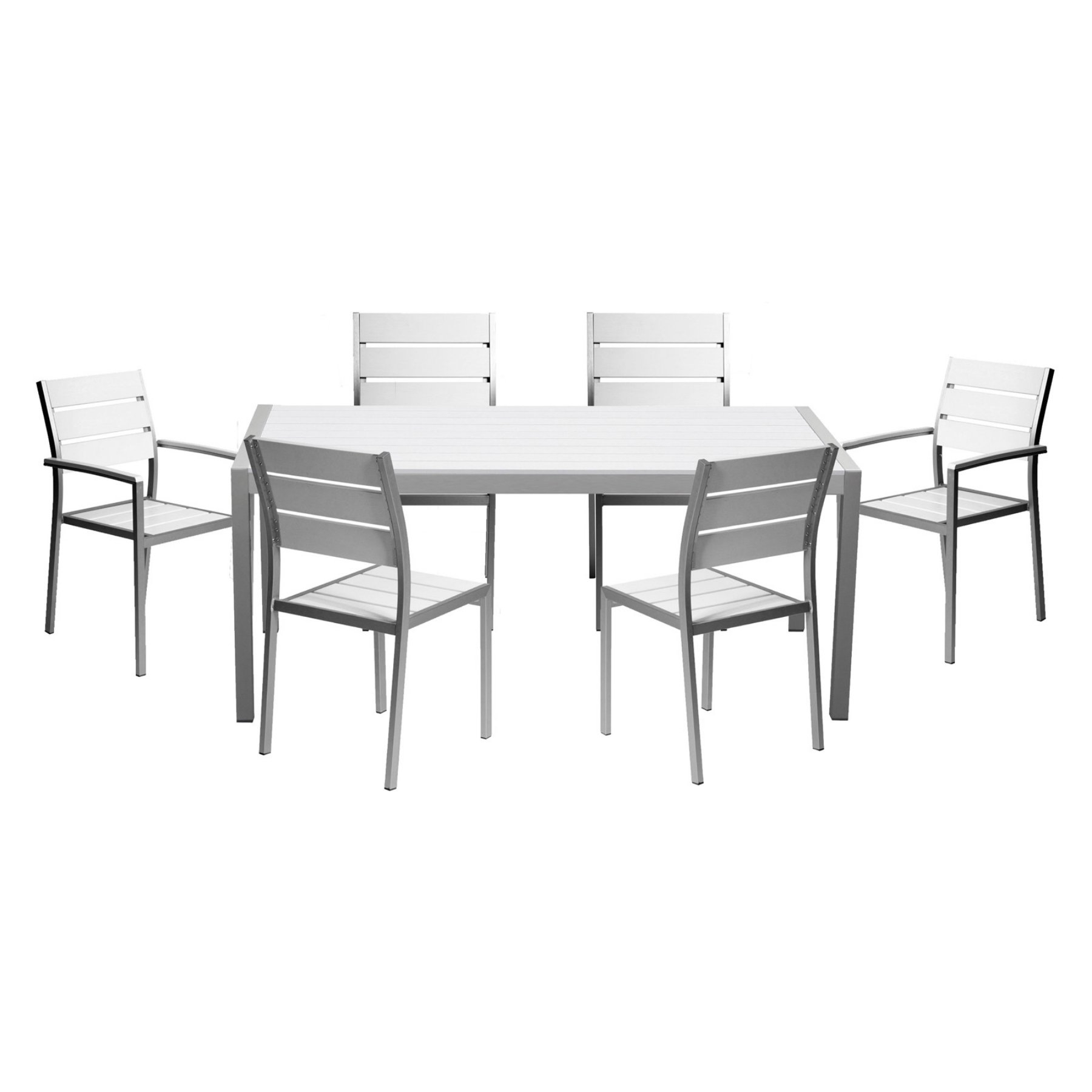 Pangea Outdoor Roy Aluminum 7 Piece Patio Dining Set In 2018 Intended For Preferred Market 7 Piece Dining Sets With Host And Side Chairs (View 18 of 25)