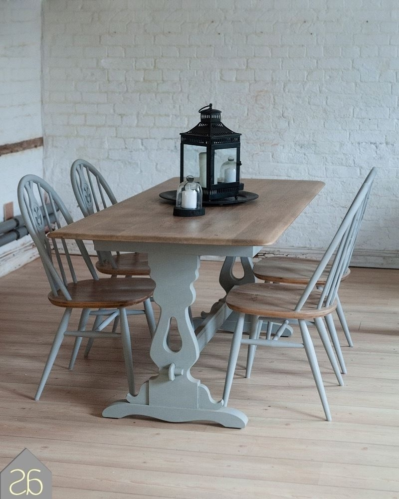 Paris Dining Tables Intended For 2017 Sale* Restored & Up Cycled Solid Oak Dining Table & Ercol Chairs In (View 3 of 25)