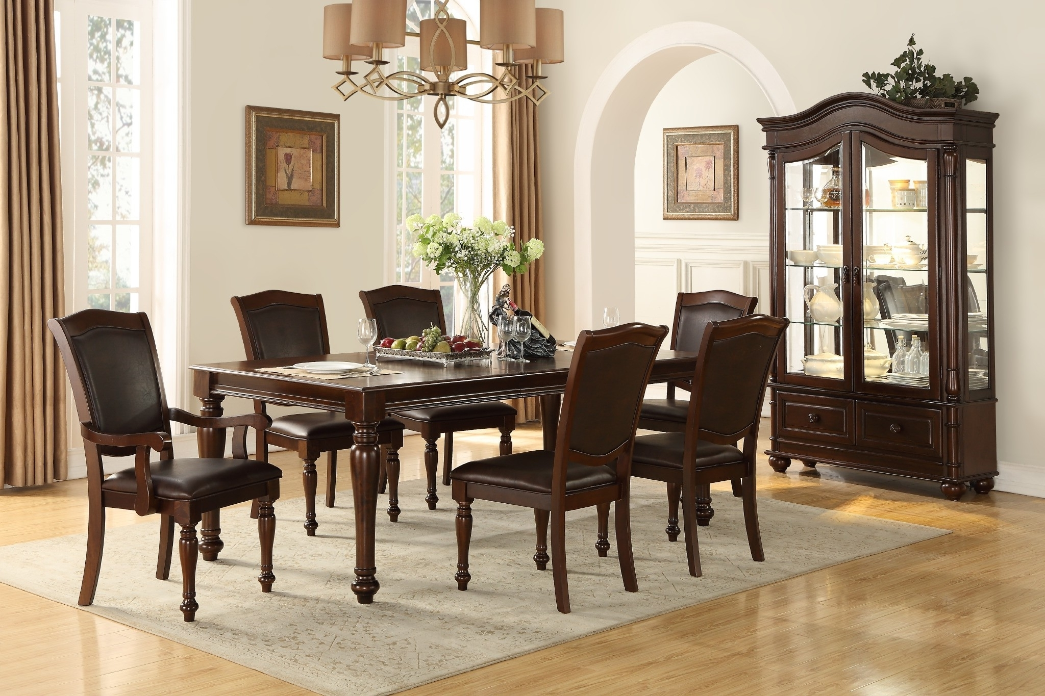 Parquet 7 Piece Dining Sets Inside Most Current Lordsburg 7 Pc Dining Set (Gallery 24 of 25)