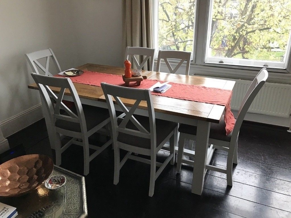 Parquet Dining Table + 6 Chairs (Furniture Village) – Excellent With Regard To Widely Used Parquet 6 Piece Dining Sets (View 10 of 25)