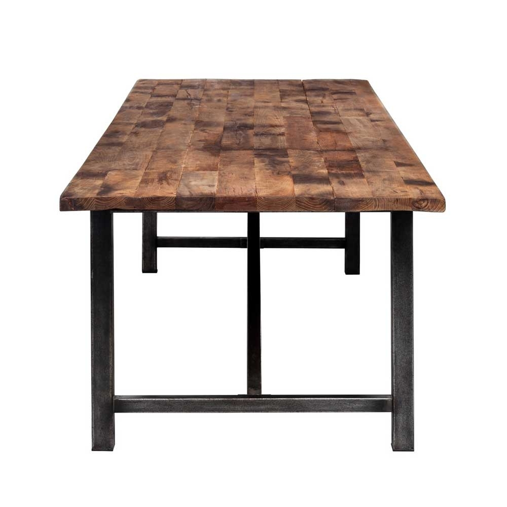 Parquet Dining Tables In Trendy Timothy Oulton Axel Reclaimed Wood Parquet Dining Table (View 3 of 25)