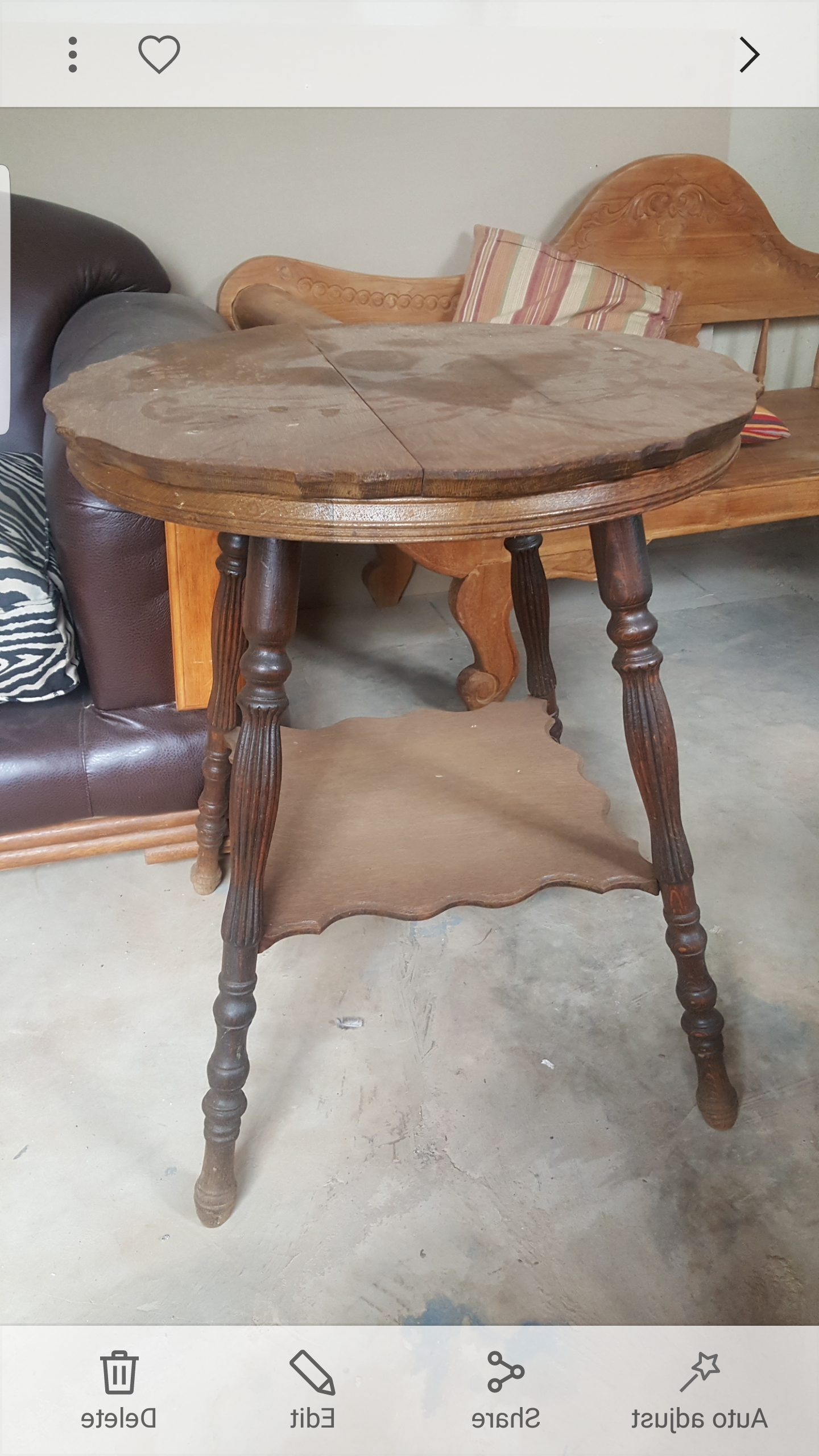 Partridge 6 Piece Dining Sets With Fashionable Vintage Partridge Wood Table (View 17 of 25)