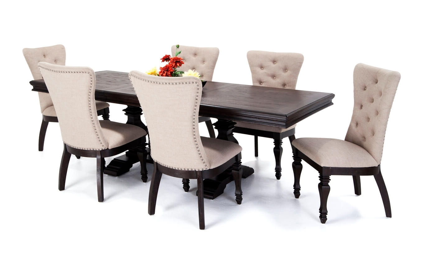 Partridge 7 Piece Dining Sets Regarding Well Liked Choosing The Right 7 Piece Dining Set – Goodworksfurniture (View 16 of 25)