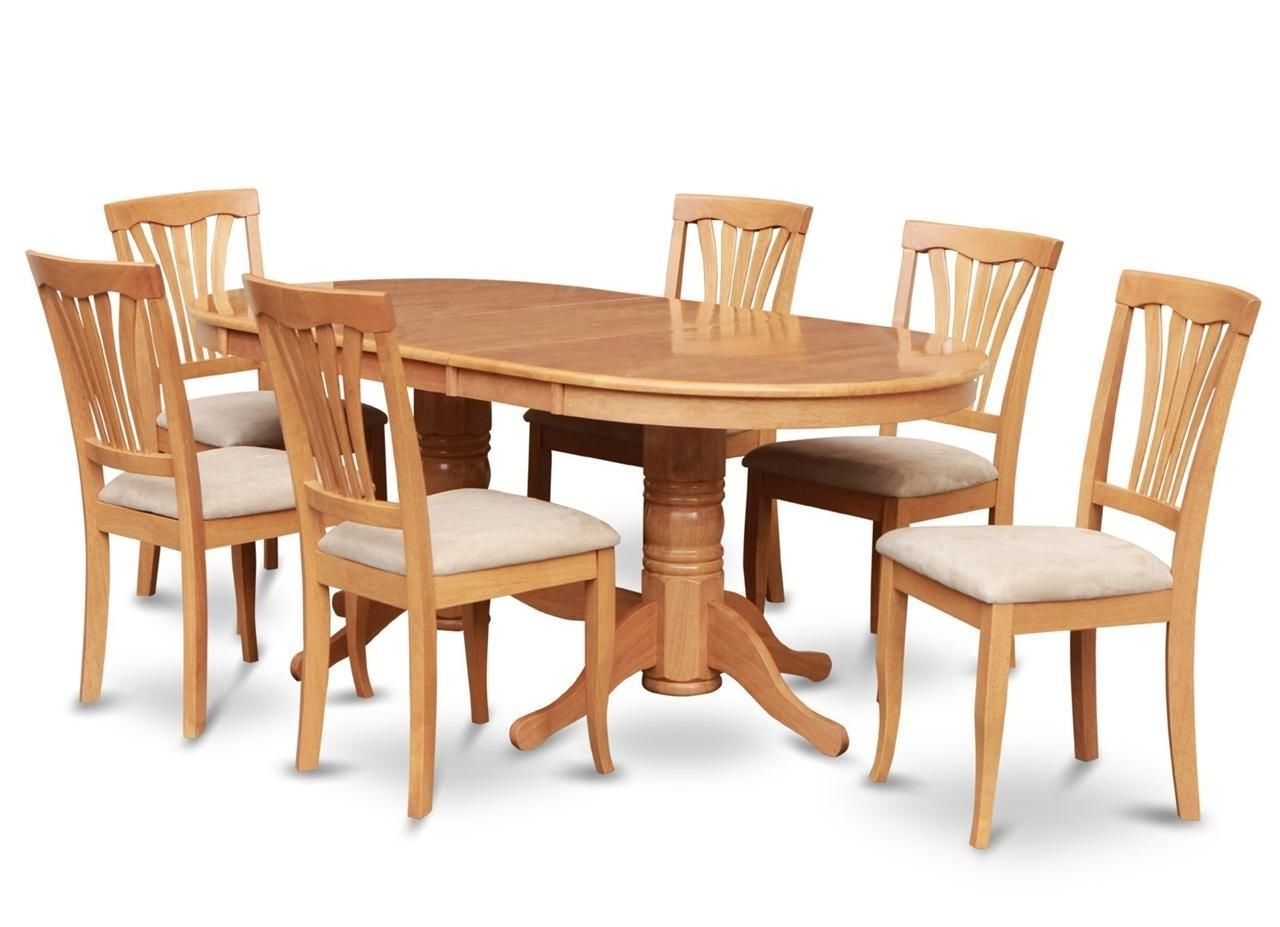 Partridge 7 Piece Dining Sets With Most Current Cozy 7Pc Oval Dinette Kitchen Dining Room Set Table With  (View 11 of 25)