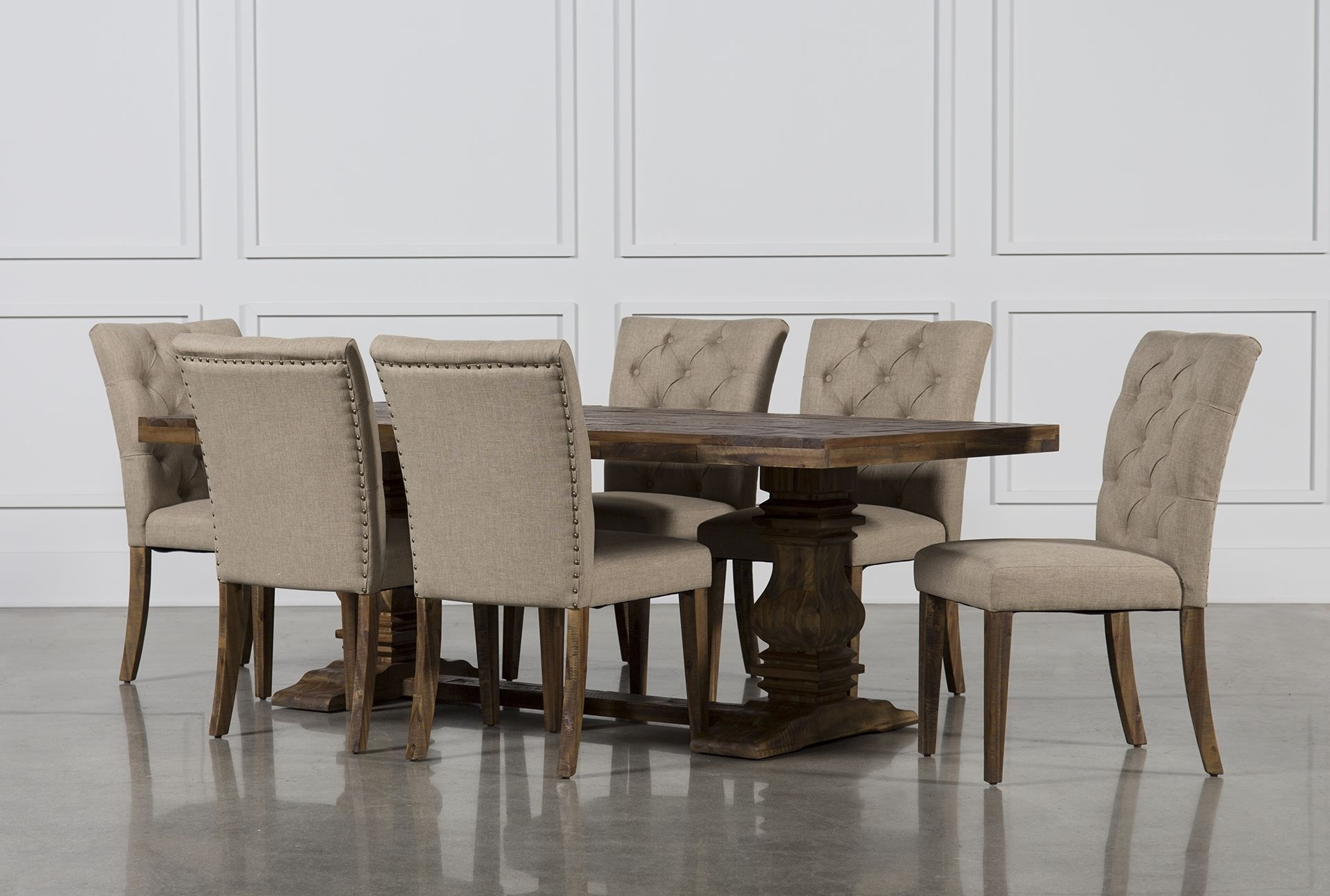 Partridge Throughout Most Recent Caira 7 Piece Rectangular Dining Sets With Upholstered Side Chairs (View 16 of 25)