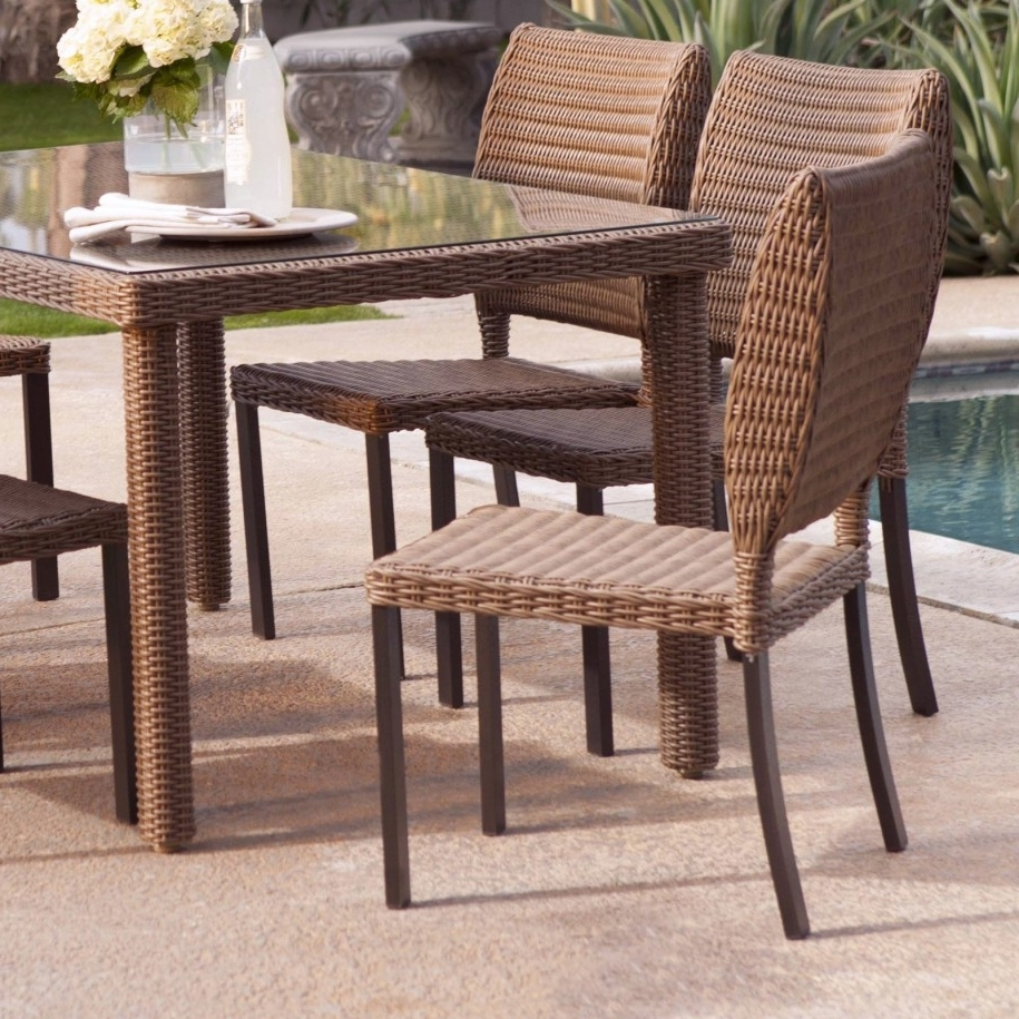 Patio. Astounding Wayfair Wicker Furniture: Wayfair Wicker Furniture Throughout Fashionable Wicker And Glass Dining Tables (Gallery 2 of 25)