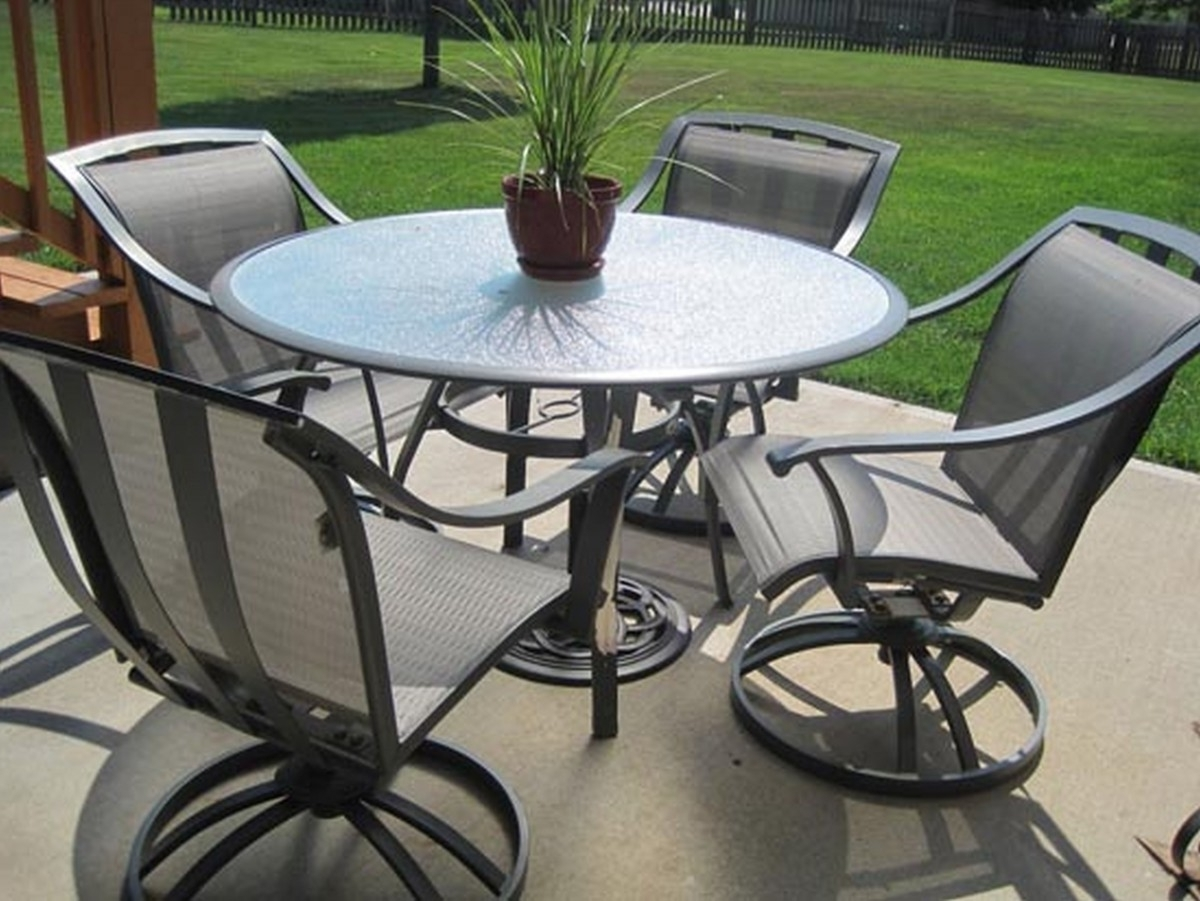 Patio: Awesome Patio Table And Chairs Patio Table And Chairs Sets With Regard To Most Up To Date Outdoor Dining Table And Chairs Sets (View 17 of 25)