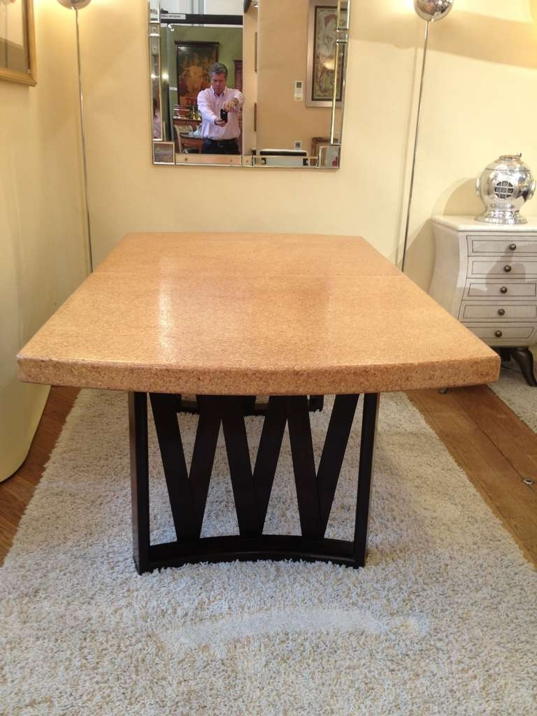 Paul Frankl Cork Top Dining Table At 1Stdibs In Best And Newest Cork Dining Tables (Gallery 12 of 25)