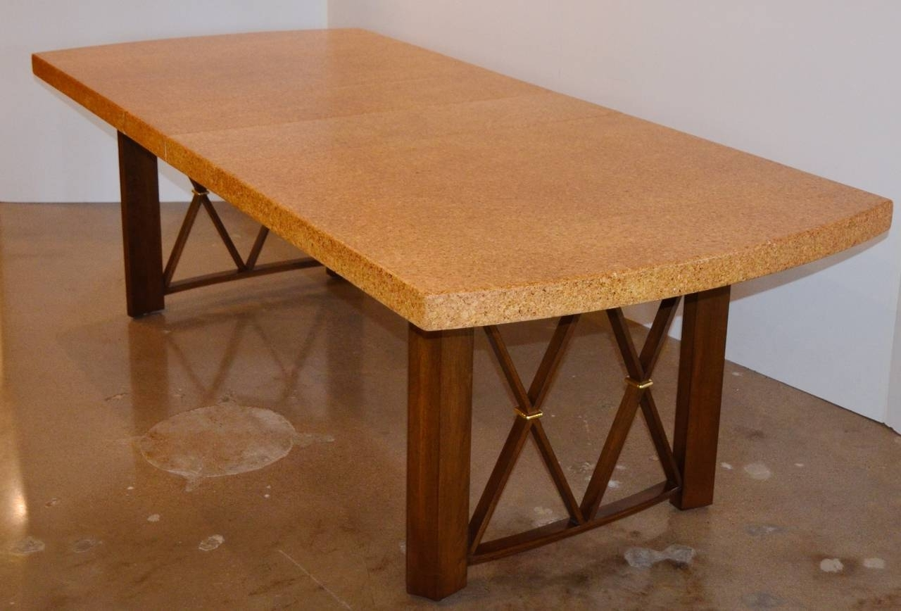 Paul Frankl's Cork, Walnut And Brass Dining Table For Johnson Throughout Famous Cork Dining Tables (View 20 of 25)