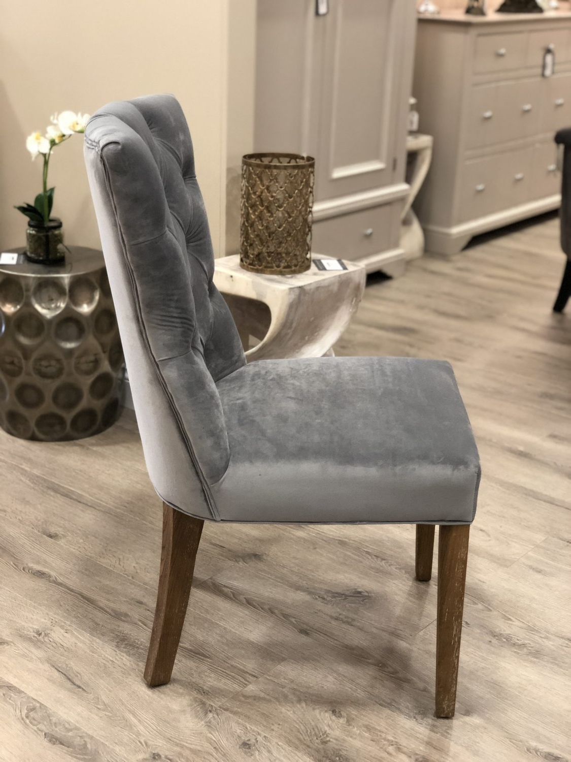 Pavilion Interiors With 2017 Button Back Dining Chairs (View 19 of 25)