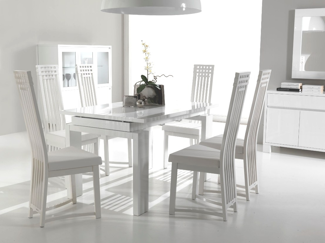 Perfect Decision For Your Home Interior – White Leather Dining Room For Most Up To Date White Dining Tables And Chairs (Gallery 17 of 25)