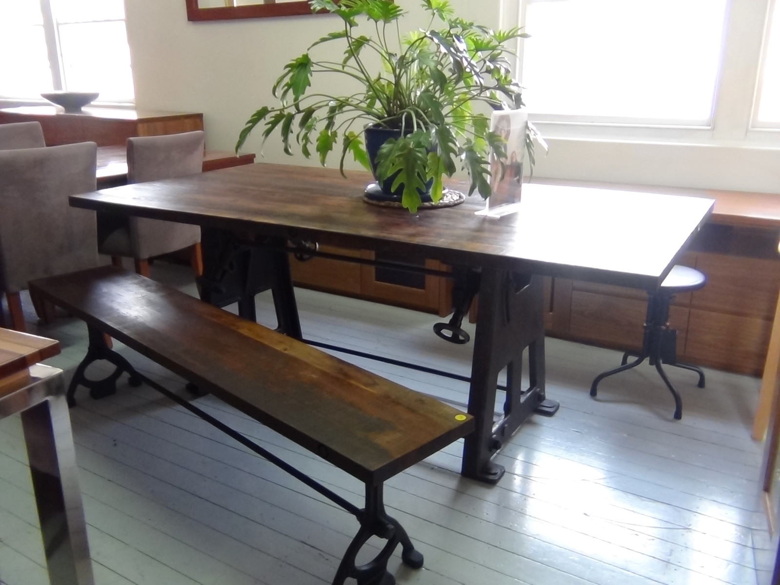 Perfect Narrow Dining Table Set With Benches From Indoor Furniture Regarding Latest Narrow Dining Tables (View 16 of 25)