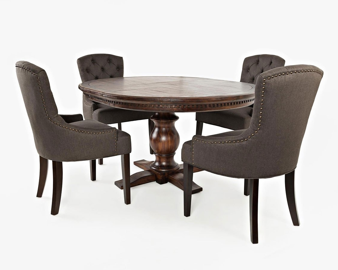 Pierce 5 Piece Counter Sets Inside Preferred Geneva Hills Round To Oval Dining Room Set W/ Charcoal Chairs (View 16 of 25)