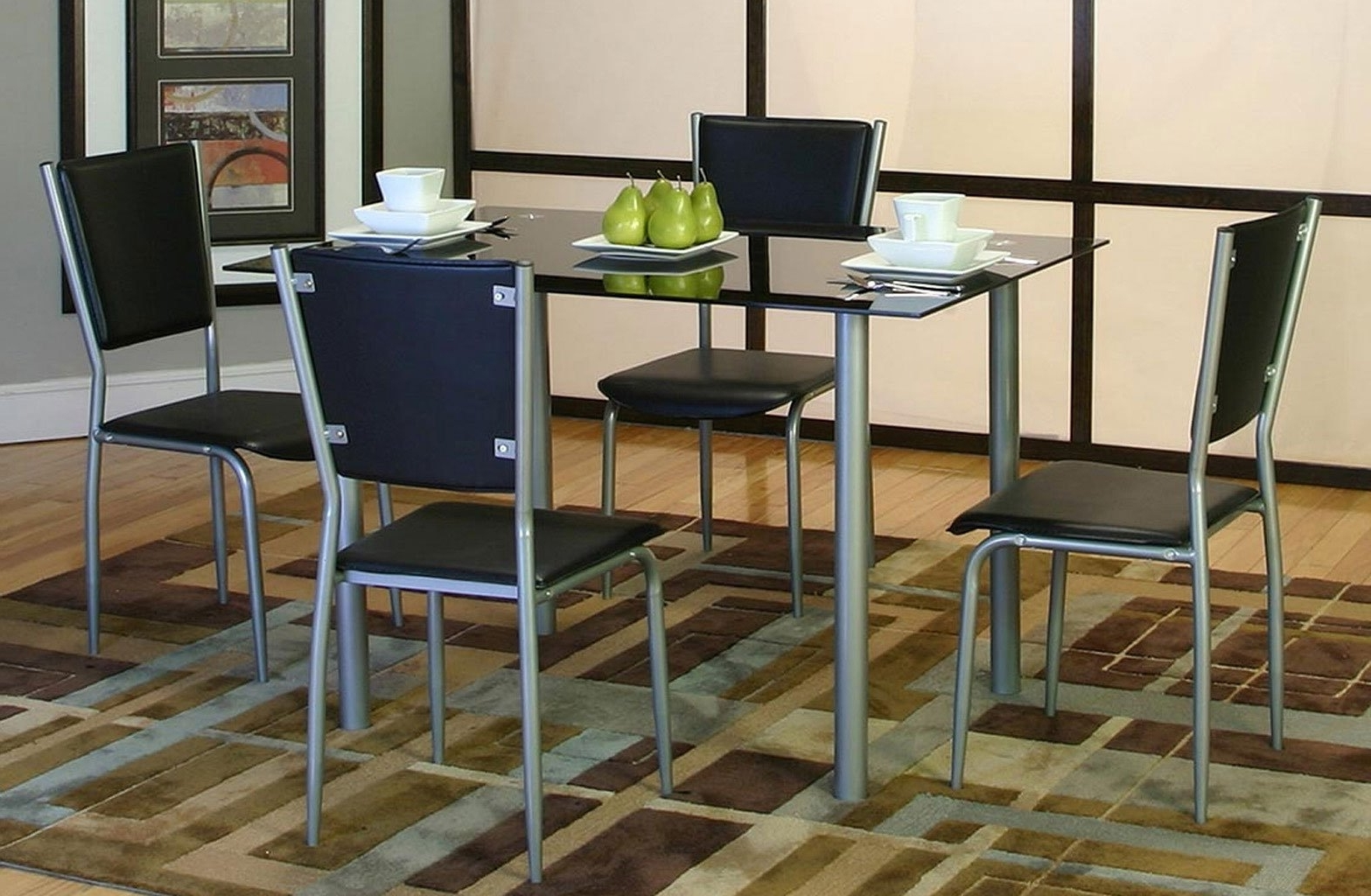 Pierce 5 Piece Counter Sets With Regard To Latest Noir 5 Piece Dining Room Set Cramco (View 21 of 25)