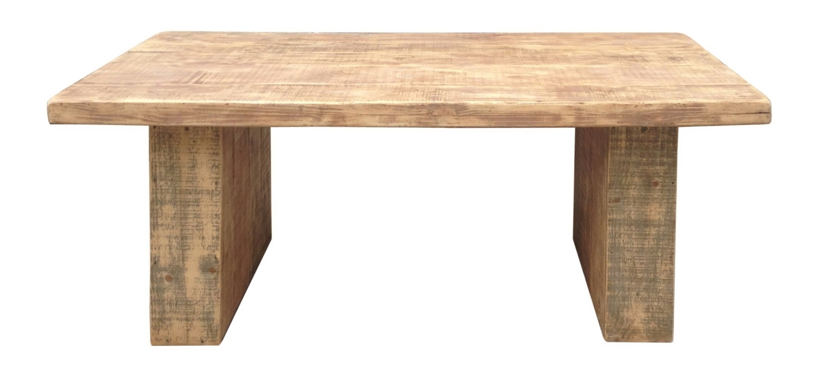 Pine Dining Table Thick Top, Massive Legs – Umaid Craftorium Pertaining To Popular Dining Tables With Large Legs (Gallery 15 of 25)