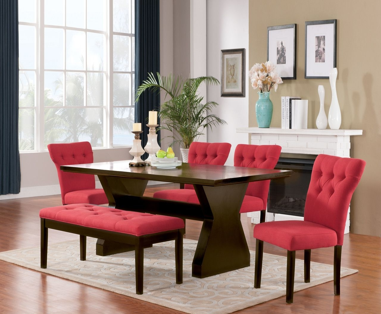Pinthe Palms Furniture On 10 11 2017 The Palms Furniture Inside Well Known Red Dining Table Sets (View 14 of 25)
