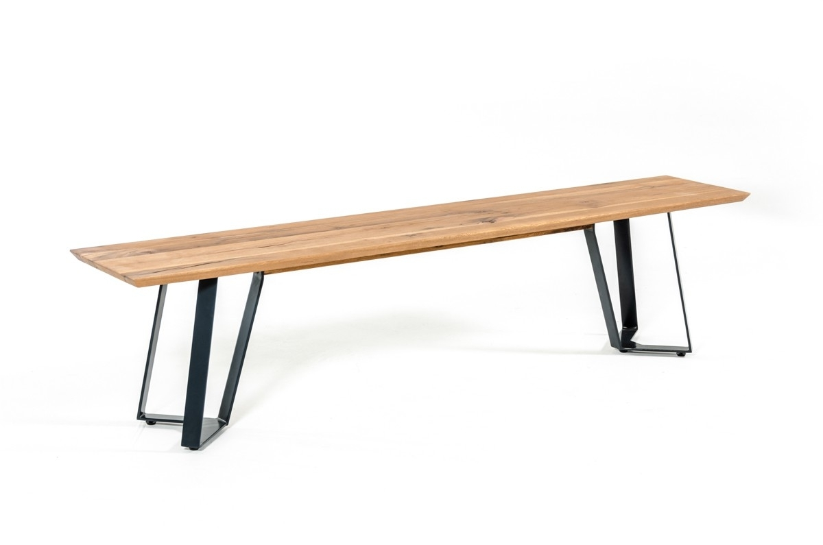 Pisa Dining Tables With Regard To Famous Nova Domus Pisa Modern Drift Oak Dining Bench (View 13 of 25)