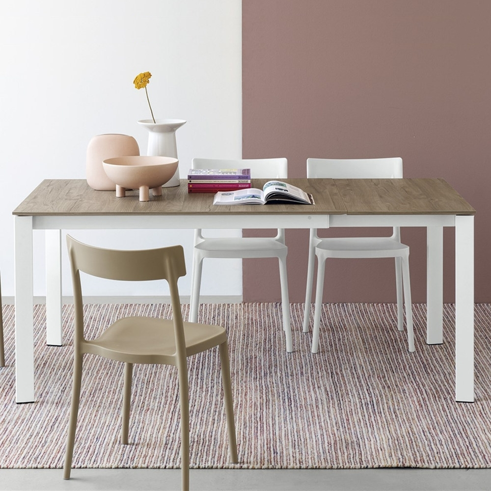 Pistoia Melamine Dining Table With Favorite White Melamine Dining Tables (Gallery 6 of 25)