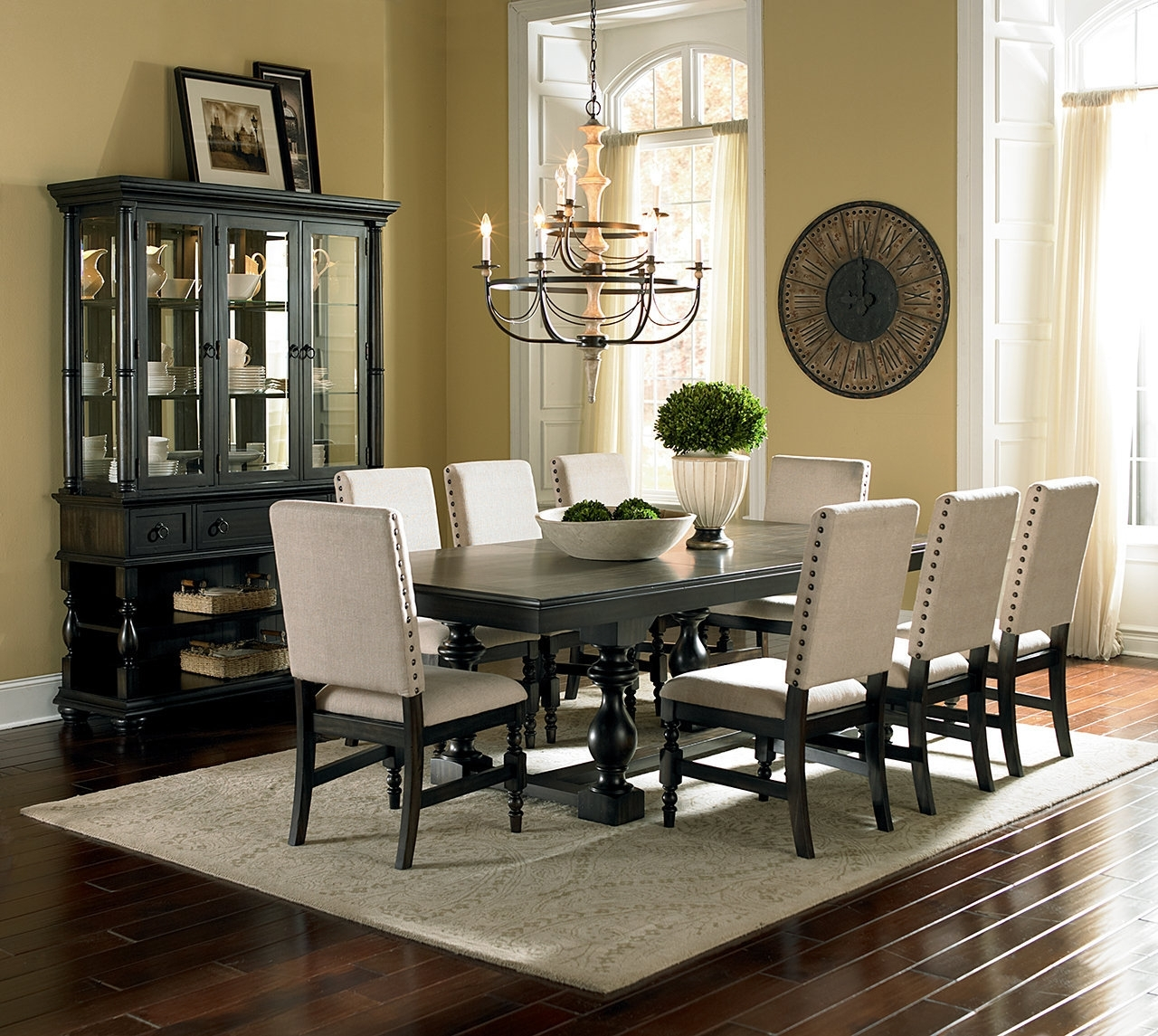 Plain Design Dining Room Sets With Fabric Chairs Norwood 6 Piece In Current Norwood 6 Piece Rectangular Extension Dining Sets With Upholstered Side Chairs (Gallery 11 of 25)