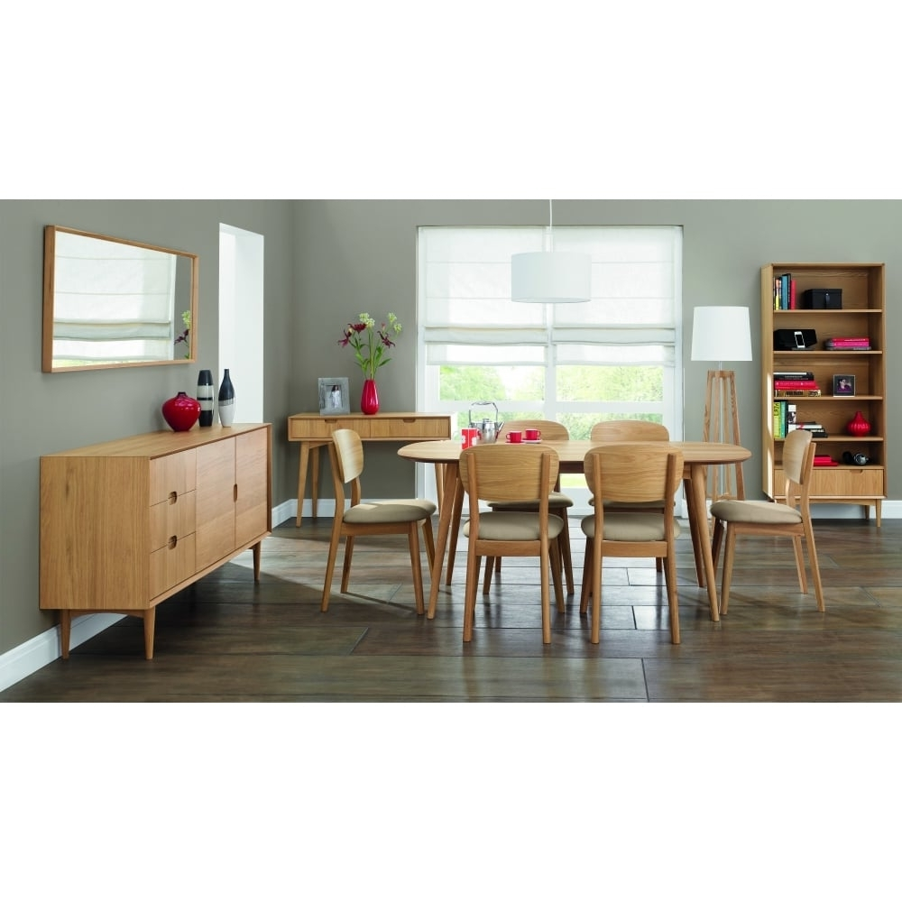 Popular 8 Seater Oak Dining Tables For Bentley Designs Oslo Oak Dining Table – 6 Seater – Dining Room From (View 24 of 25)