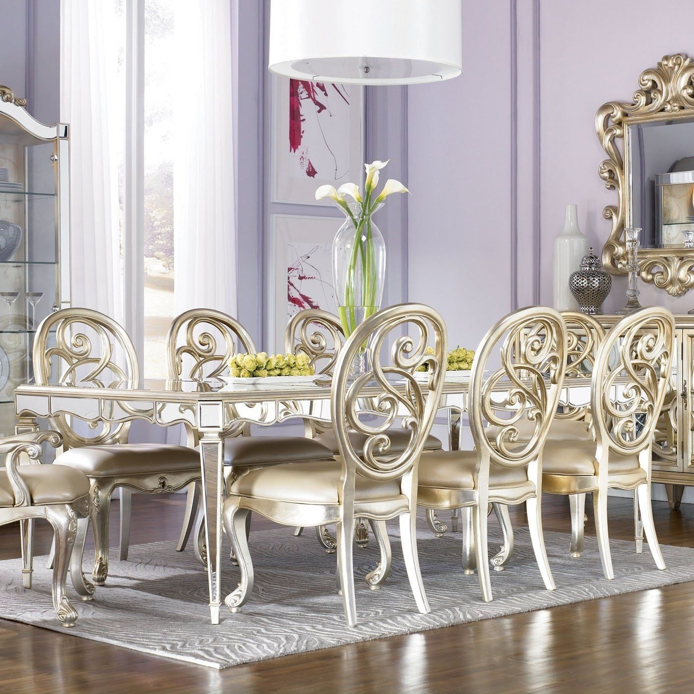 Popular Antique Mirror Dining Tables Intended For American Drew 908 760 Jessica Mcclintock Couture Antique Mirror Leg (Gallery 8 of 25)