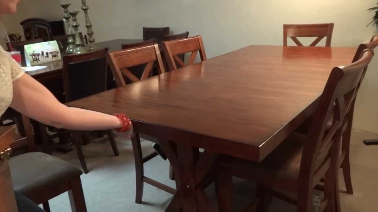 Popular Ashley Furniture Waurika Dining Table Set D644 Review – Youtube Inside Kirsten 6 Piece Dining Sets (View 21 of 25)