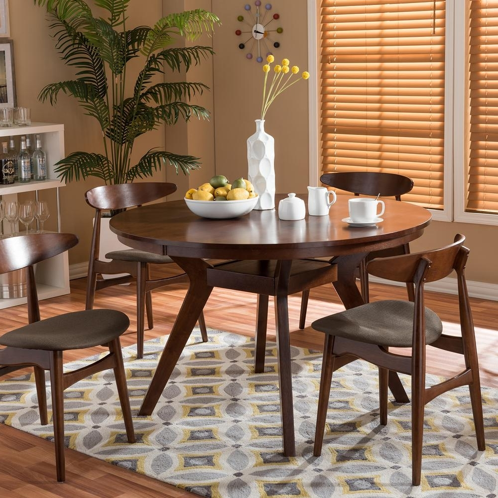 Popular Baxton Studio – Kitchen & Dining Room Furniture – Furniture – The Intended For Laurent 5 Piece Round Dining Sets With Wood Chairs (Gallery 17 of 25)
