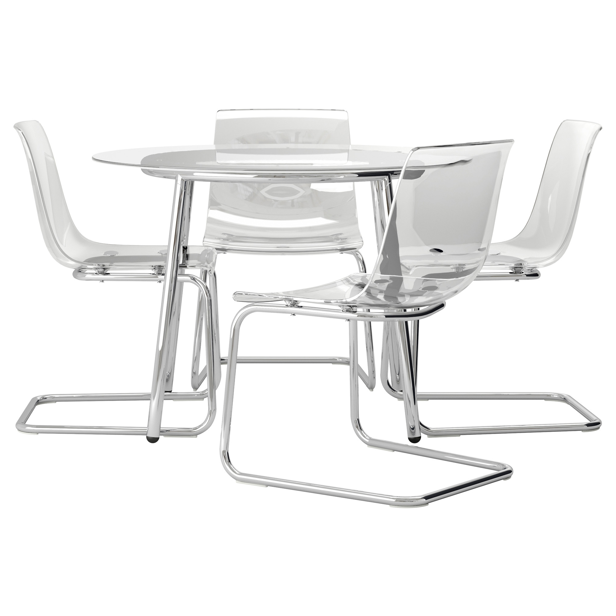 Popular Beautiful Clear Acrylic Dining Chair With Stainless Steel Frame And With Regard To Clear Glass Dining Tables And Chairs (View 19 of 25)