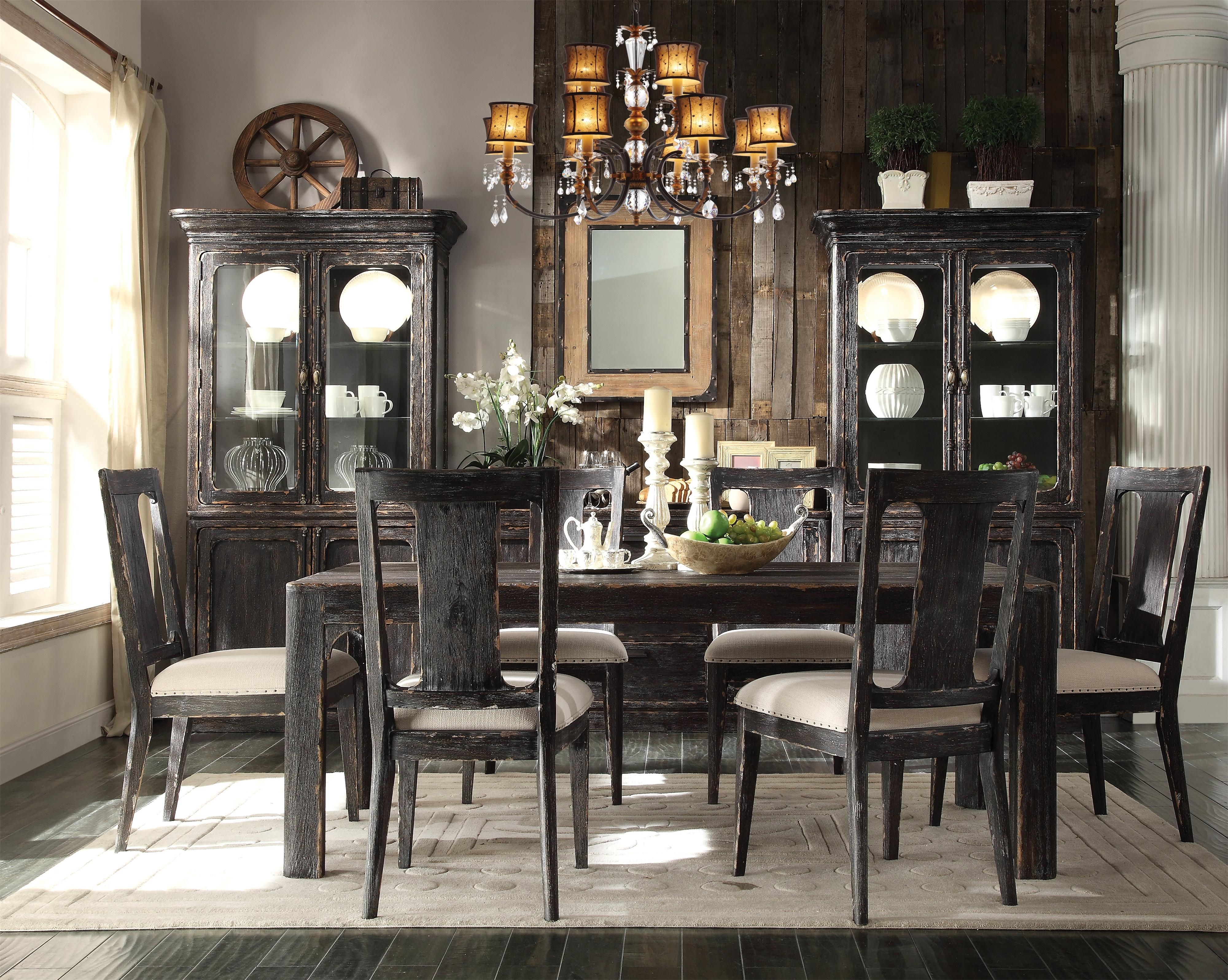 Popular Bellagio Dining Tables Throughout Riverside Furniture Bellagio Distressed Round End Table (View 14 of 25)