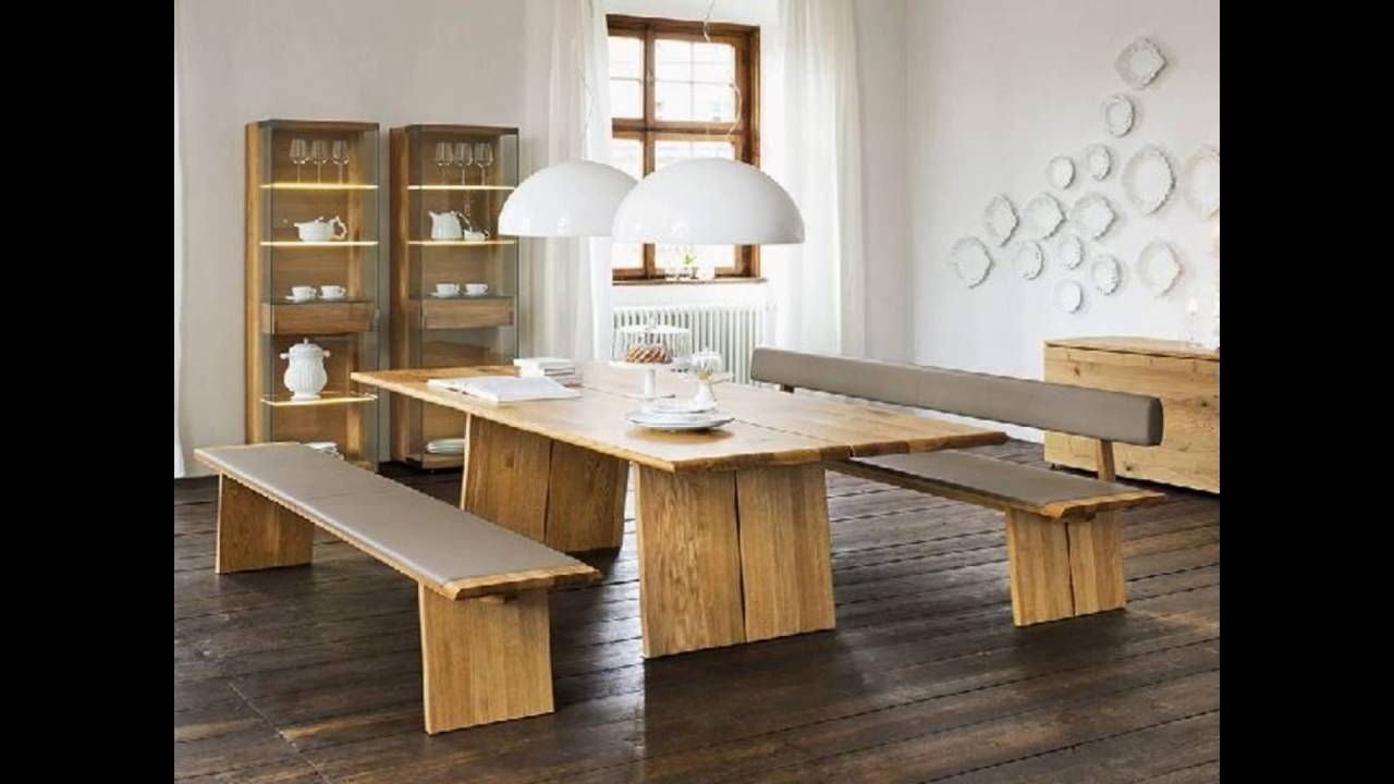 Popular Bench With Back For Dining Table – Youtube Throughout Bench With Back For Dining Tables (View 9 of 25)