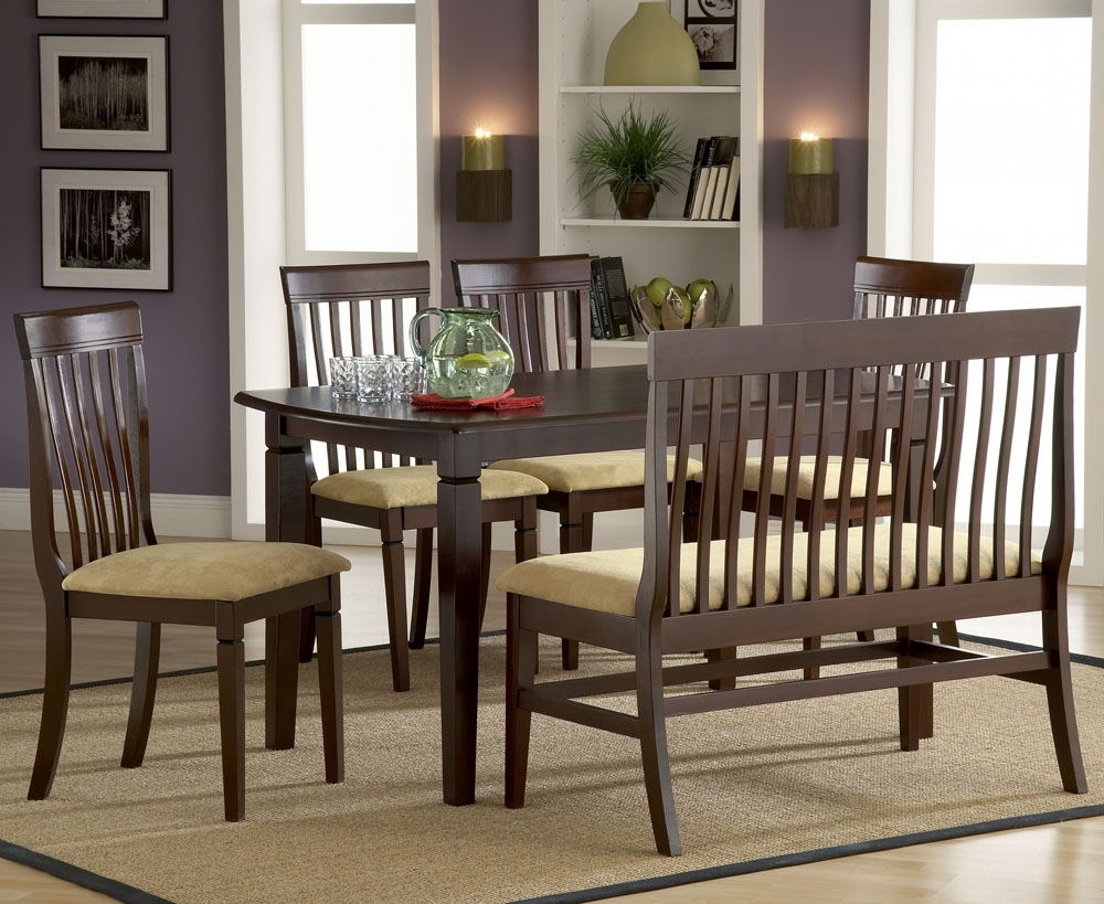 Popular Bench With Back For Dining Tables Pertaining To Furniture (View 3 of 25)