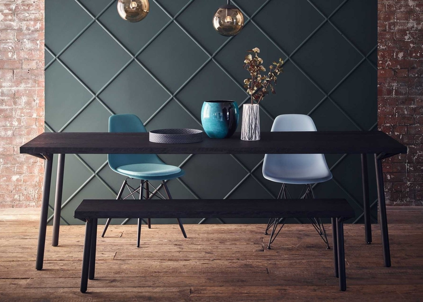 Popular Black Dining Tables For Blu Dot Branch Dining Table Black Stain (Gallery 12 of 25)