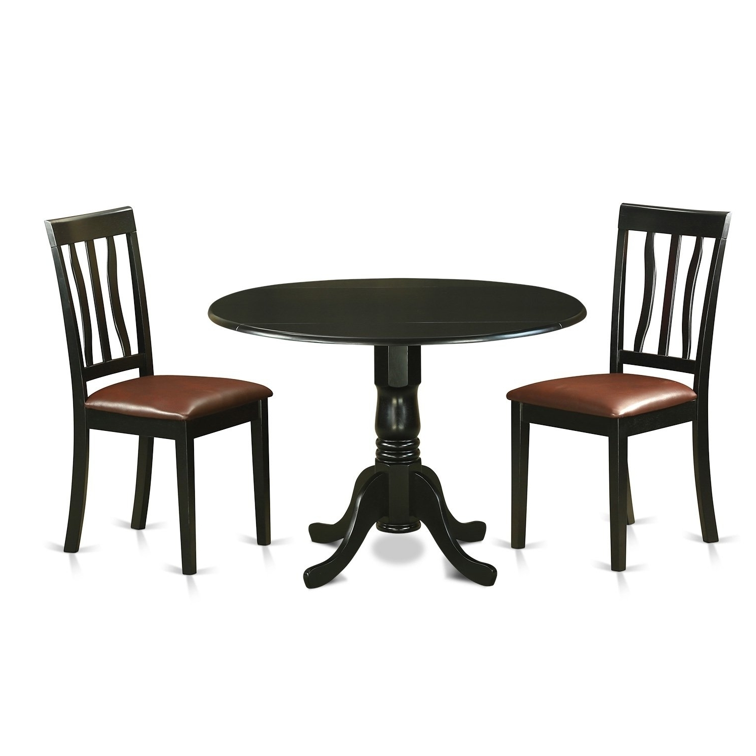 Popular Caden 6 Piece Dining Sets With Upholstered Side Chair With Regard To Dlan3 Blk 3 Pc Dinette Table Set Dining Table And 2 Dining Chairs (View 19 of 25)