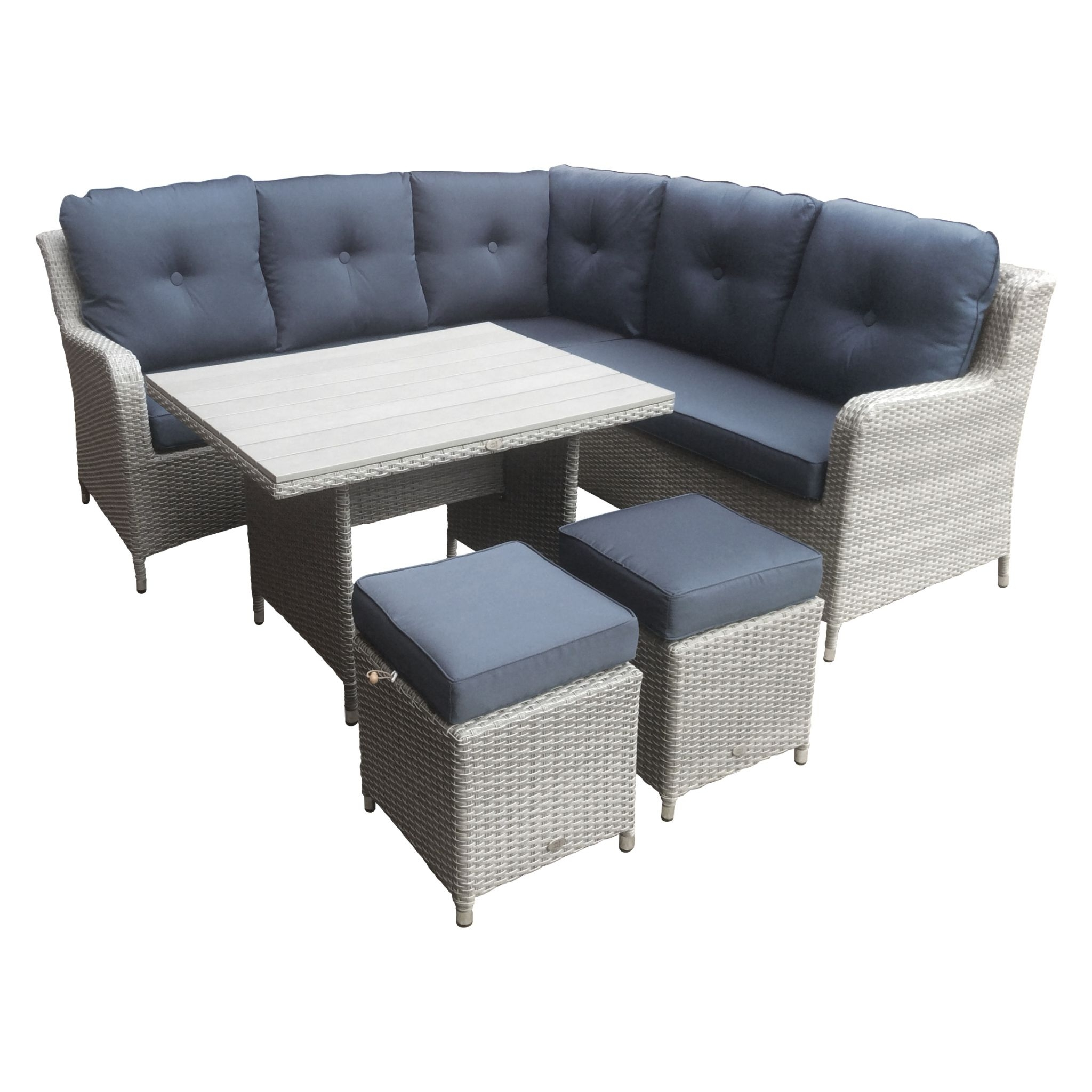 Popular Chatsworth Compact High Dining Set With Polywood Table Stools – Grey Pertaining To Compact Dining Sets (View 25 of 25)