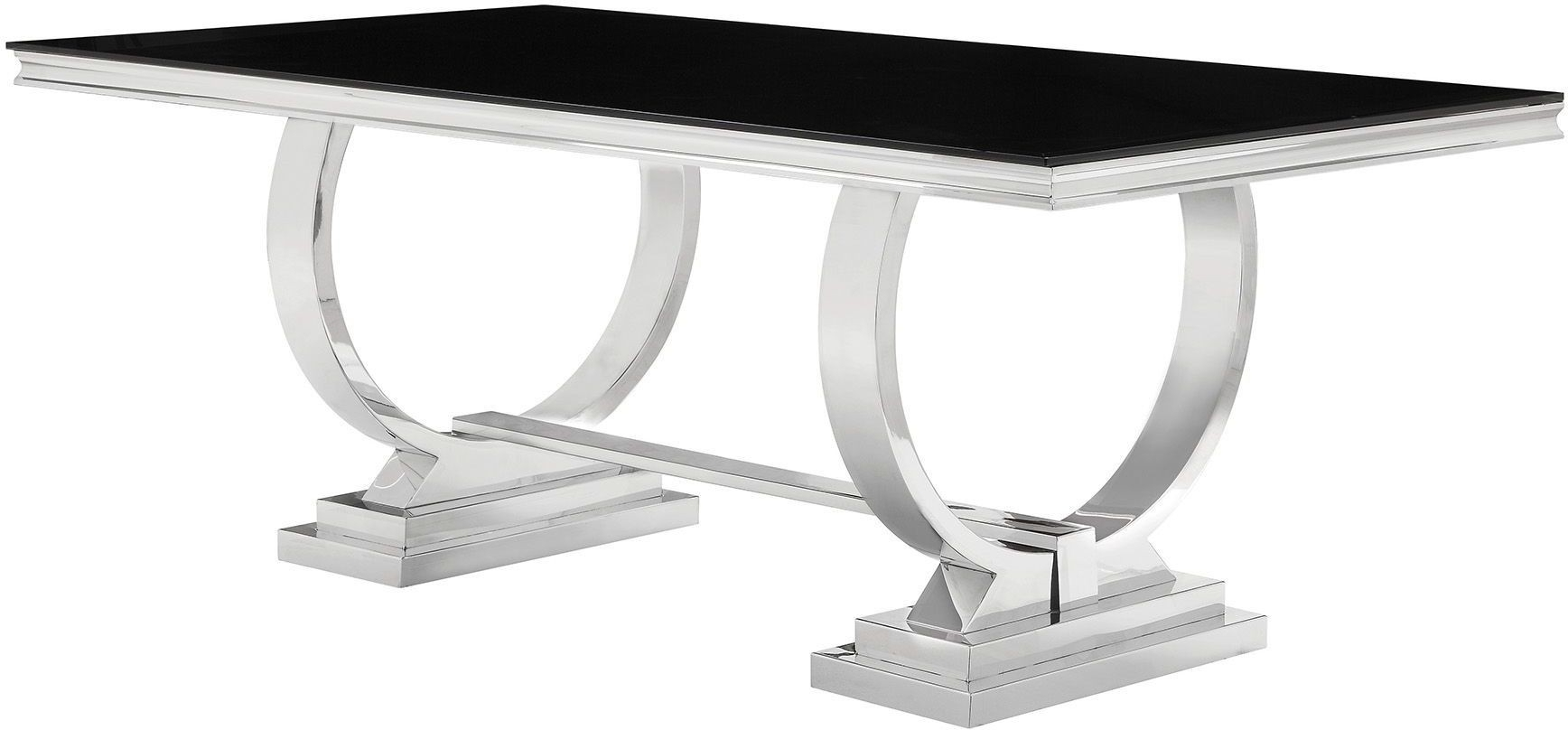 Popular Coaster Antoine Chrome Dining Table – Antoine Collection: 7 Reviews Inside Chrome Dining Tables (View 21 of 25)